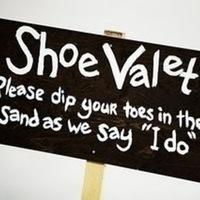 Signs, Beach wedding, Shoe valet, Signage