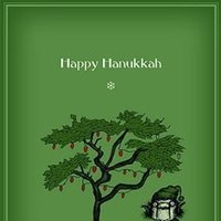 Happy Hanukkah by Bald Guy Greetings, 8 mini-cards per box (Pack of 2)