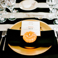 Black and Orange Wedding Decor