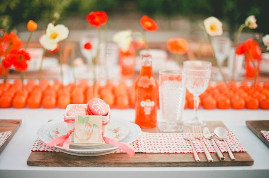 Orange Wedding Decor