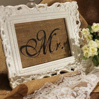 For our bride and groom table