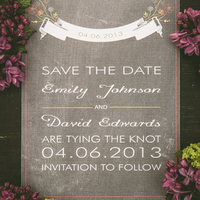 Vintage-Inspired Save the Date