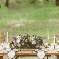 Rustic Purple Tablescape