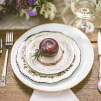 Plum Place Setting