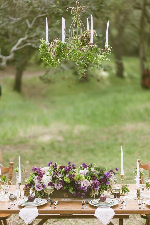 Rustic Purple Tablescape