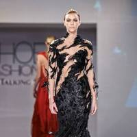 Black Feather Gown by Michelle Hébert