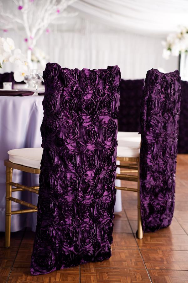 Purple Chair Covers