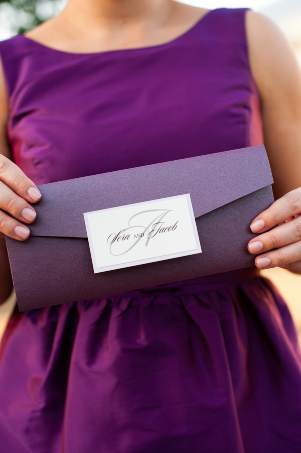 Purple Invitations