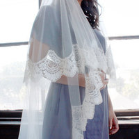 Cathedral Length Mantilla with Blusher