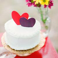 Heart-Themed Wedding Cake