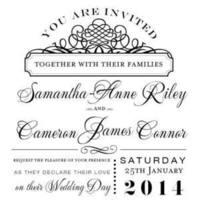 Beau Square Flat Wedding Invitation in Black- DreamDay Invitations