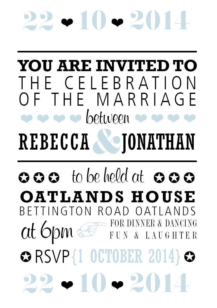 Audrey Square Flat Wedding Invitation in Black - DreamDay Invitations