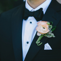 Classic Pink Boutonniere