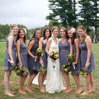 Bridesmaids in Gray