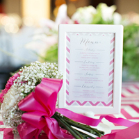 Pink and Gray Menu