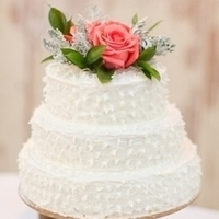 Rose Floral Wedding Cake