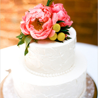 Peony Floral Wedding Cake