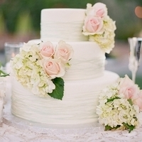 Hydrangea Floral Wedding Cake