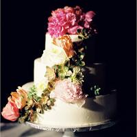 Spring Floral Wedding Cake