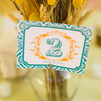 Vintage Inspired Table Number