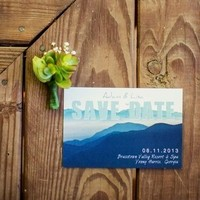 Watercolor Save-the-Dates