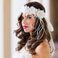 Floral deco headband