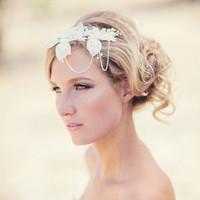 Floral & Pearl Art Deco Headband