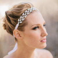 Ribbon and Rhinestone Headband