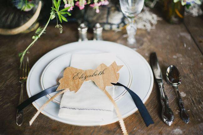 Fall Wedding Place Setting