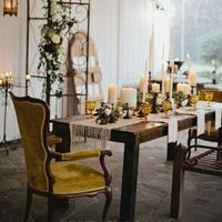 Fall Tablescape with Citrine Accents