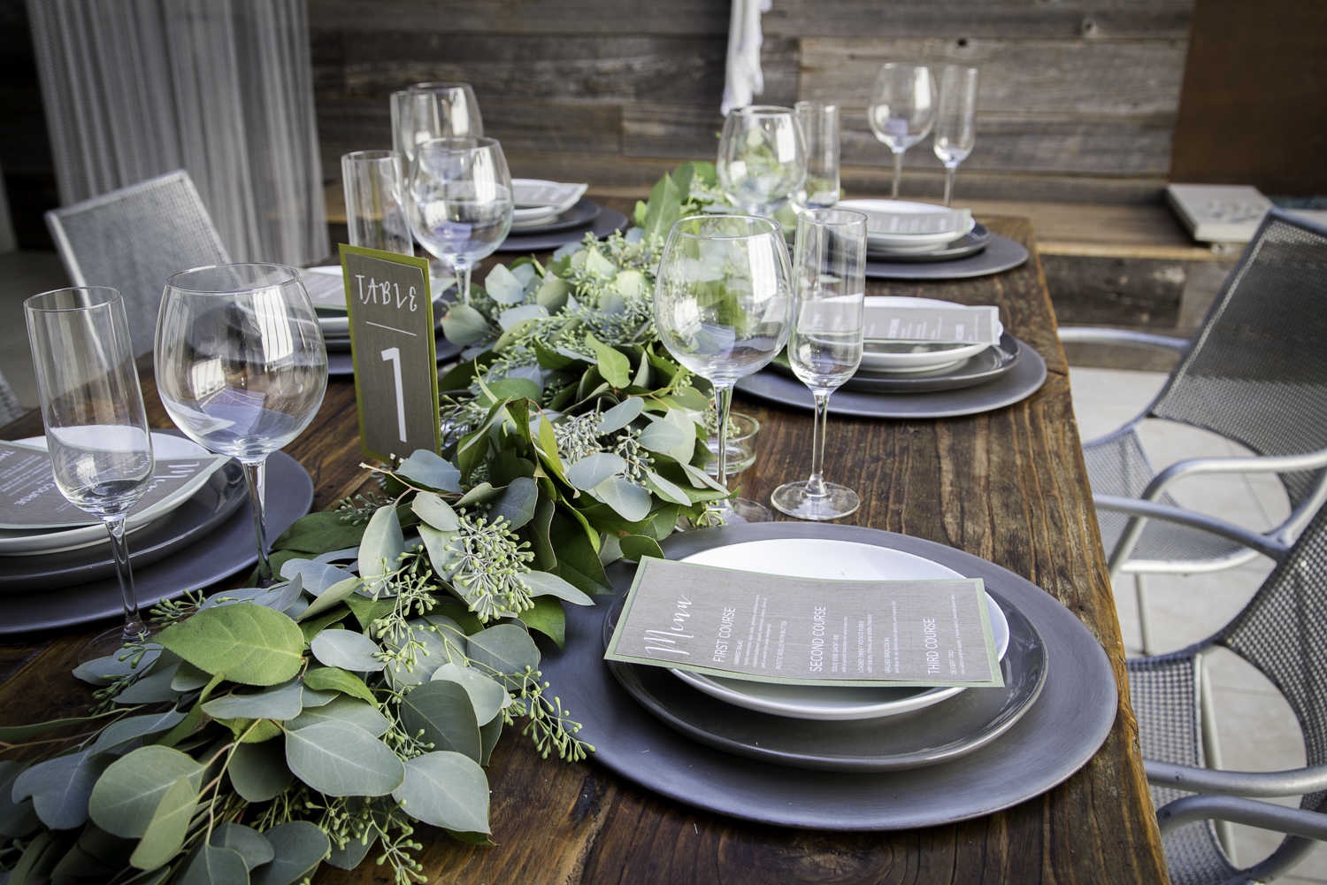 Table Runner Greenery