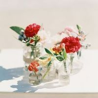 Blooms in Glass Jars