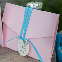 Pink and Blue Invitations