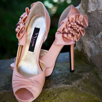 Pretty Pink Wedding Shoes