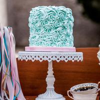 Blue Rose Cake