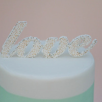 DIY: Sprinkled Cake Topper