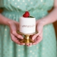 Strawberry Mini Wedding Cake