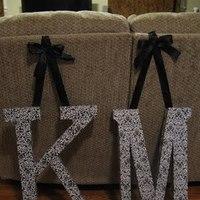 DIY Wedding Challenge 2010: Hanging Letters
