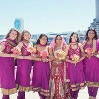 Vibrant Purple Bridesmaids