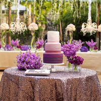 Purple Cake Display