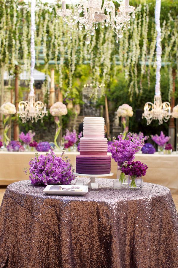 Purple Cake Display