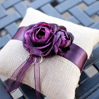Purple Rose Ring Pillow