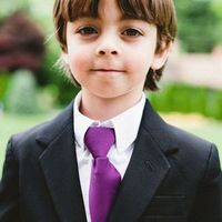 Purple Ring Bearer Tie
