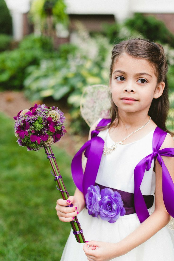 Purple Flower Girl Accessories