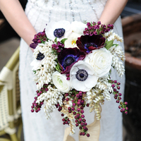 Purple and White Anemone Bouquet