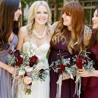 Mix 'n' Matched Bridesmaid Dresses