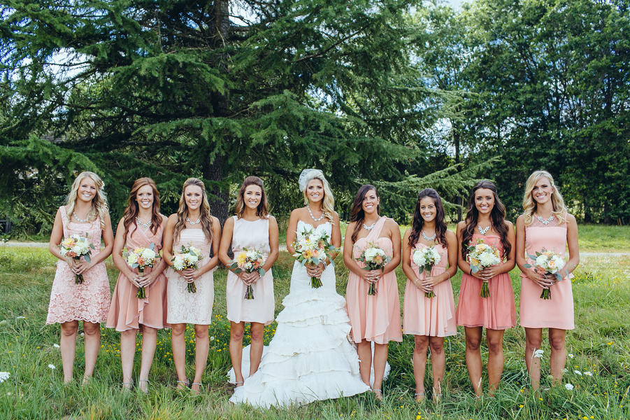 Bridesmaids in Pink
