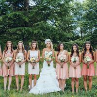 Bridesmaids in Pink