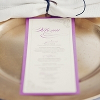 Radiant Orchid Menu Card