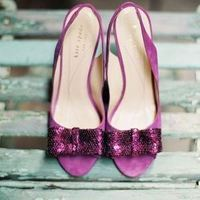 Radiant Orchid Bridal Shoes